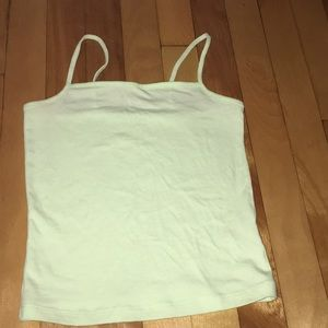 Mint green cropped tank top